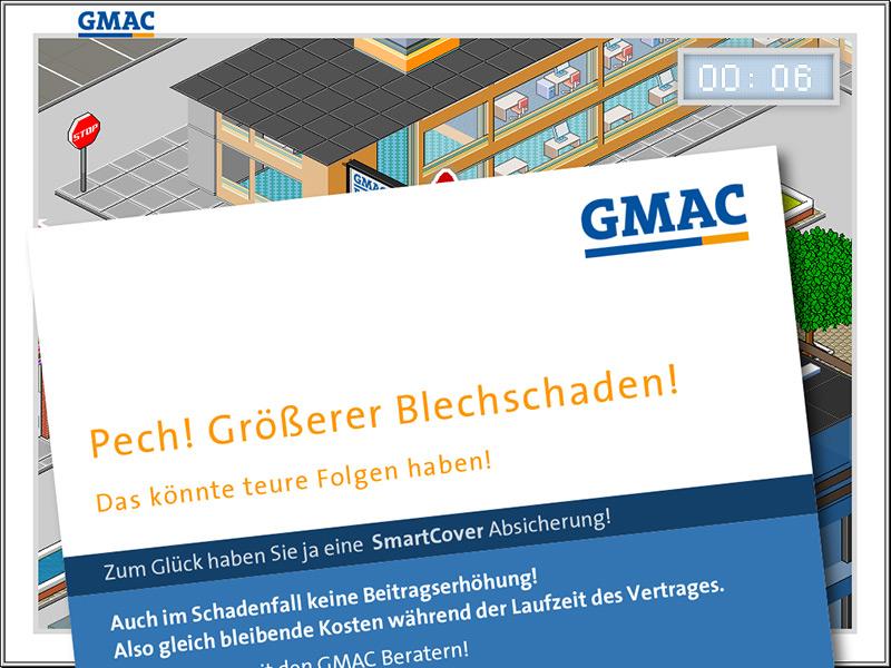 Isometric Pixel Optics For GMAC Bank | Bluelemon Interactive