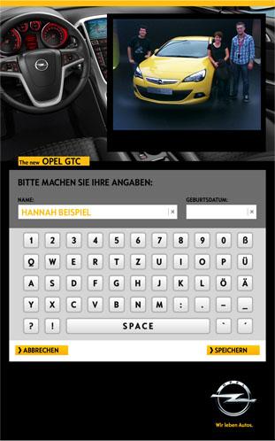 Virtuelle Tastatur auf dem Touchscreen